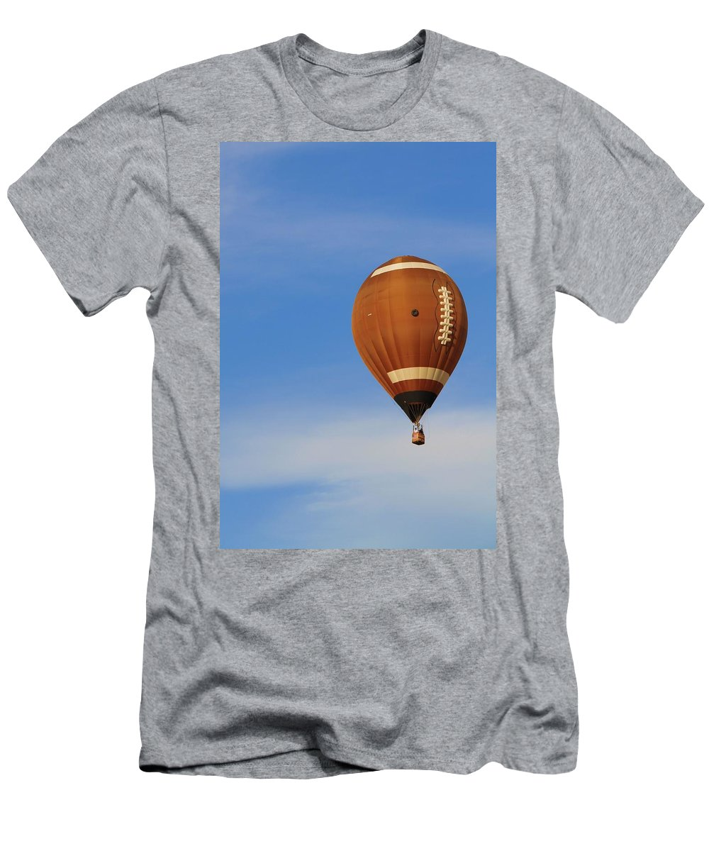Hot Air Balloon Photograph Men's T-Shirt (Athletic Fit) featuring the photograph Football Season by Dan Sproul