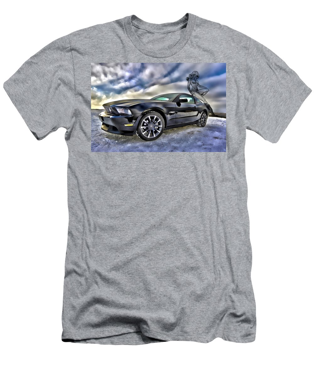 Ford Men's T-Shirt (Athletic Fit) featuring the photograph Ford Mustang - Featured In Vehicle Eenthusiast Group by Ericamaxine Price