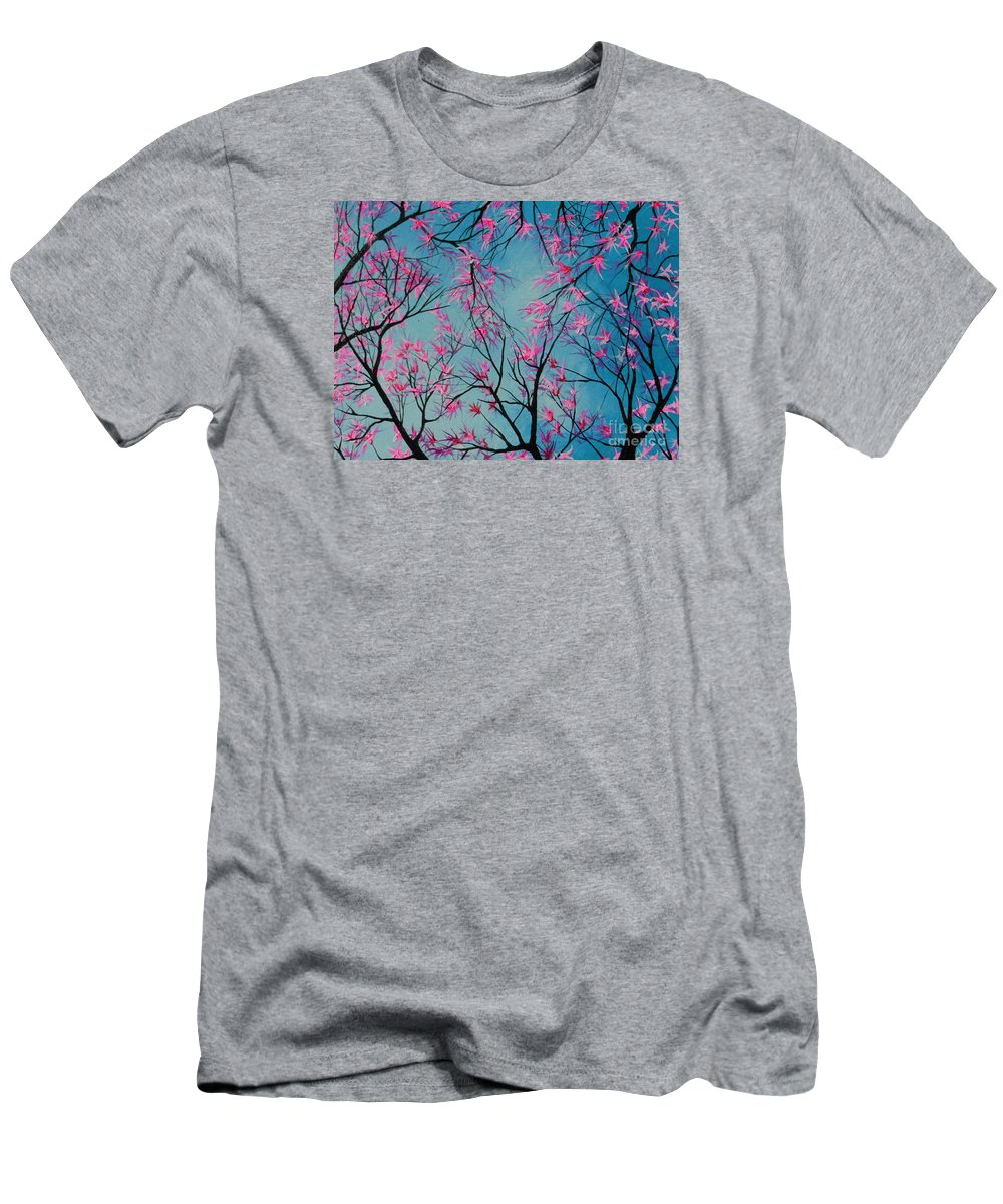 Forest Men's T-Shirt (Athletic Fit) featuring the painting Forest Fantasy by Dan Whittemore