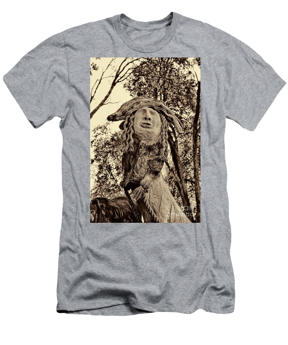 Fall Men's T-Shirt (Athletic Fit) featuring the photograph Forest Gardian by Tommy Anderson