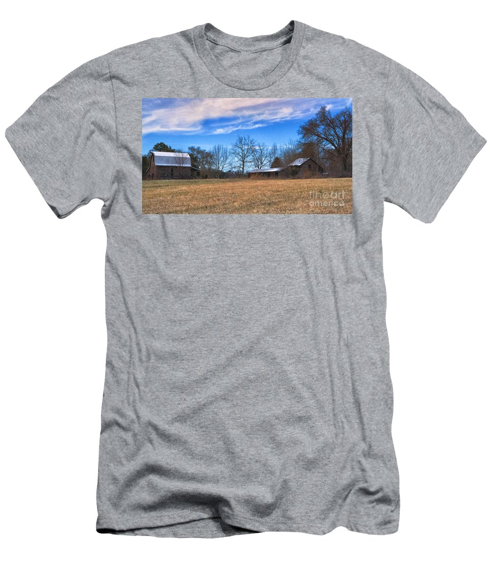 Time Men's T-Shirt (Athletic Fit) featuring the photograph Forgotten by Scott Hervieux
