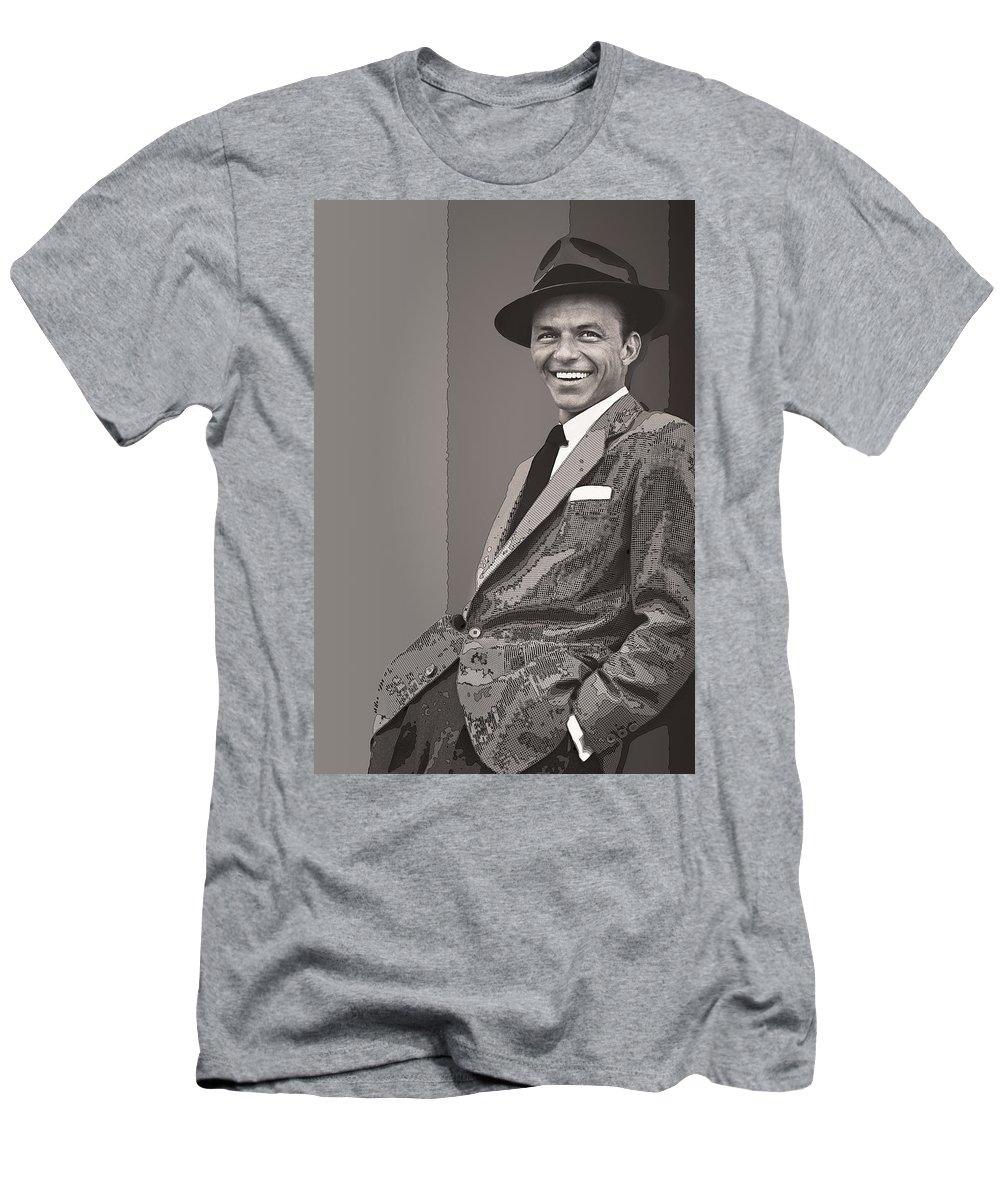 Sinatra Men's T-Shirt (Athletic Fit) featuring the digital art Frank Sinatra by Daniel Hagerman