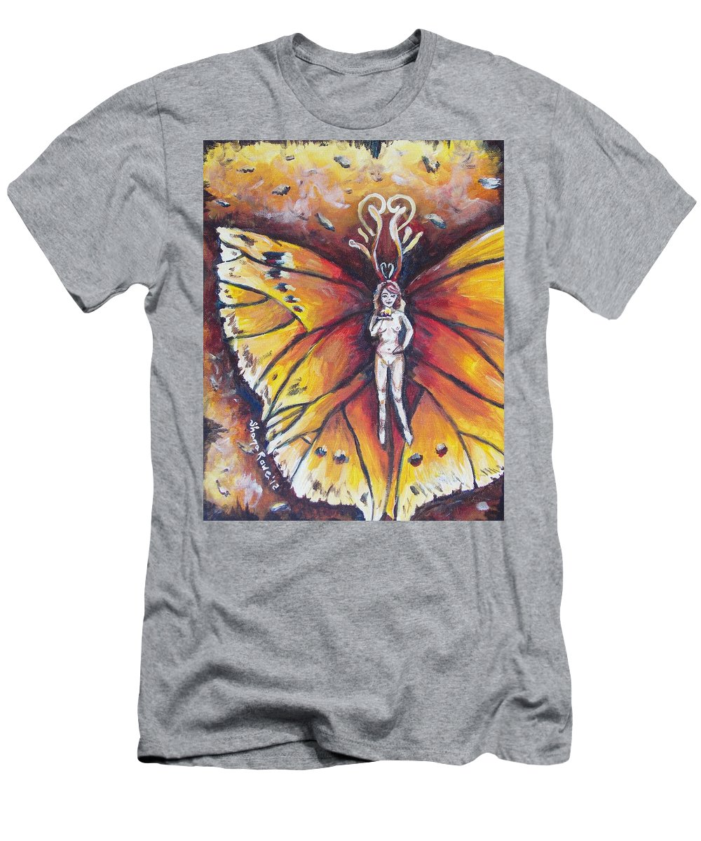 Fire Men's T-Shirt (Athletic Fit) featuring the painting Free As The Flame by Shana Rowe Jackson