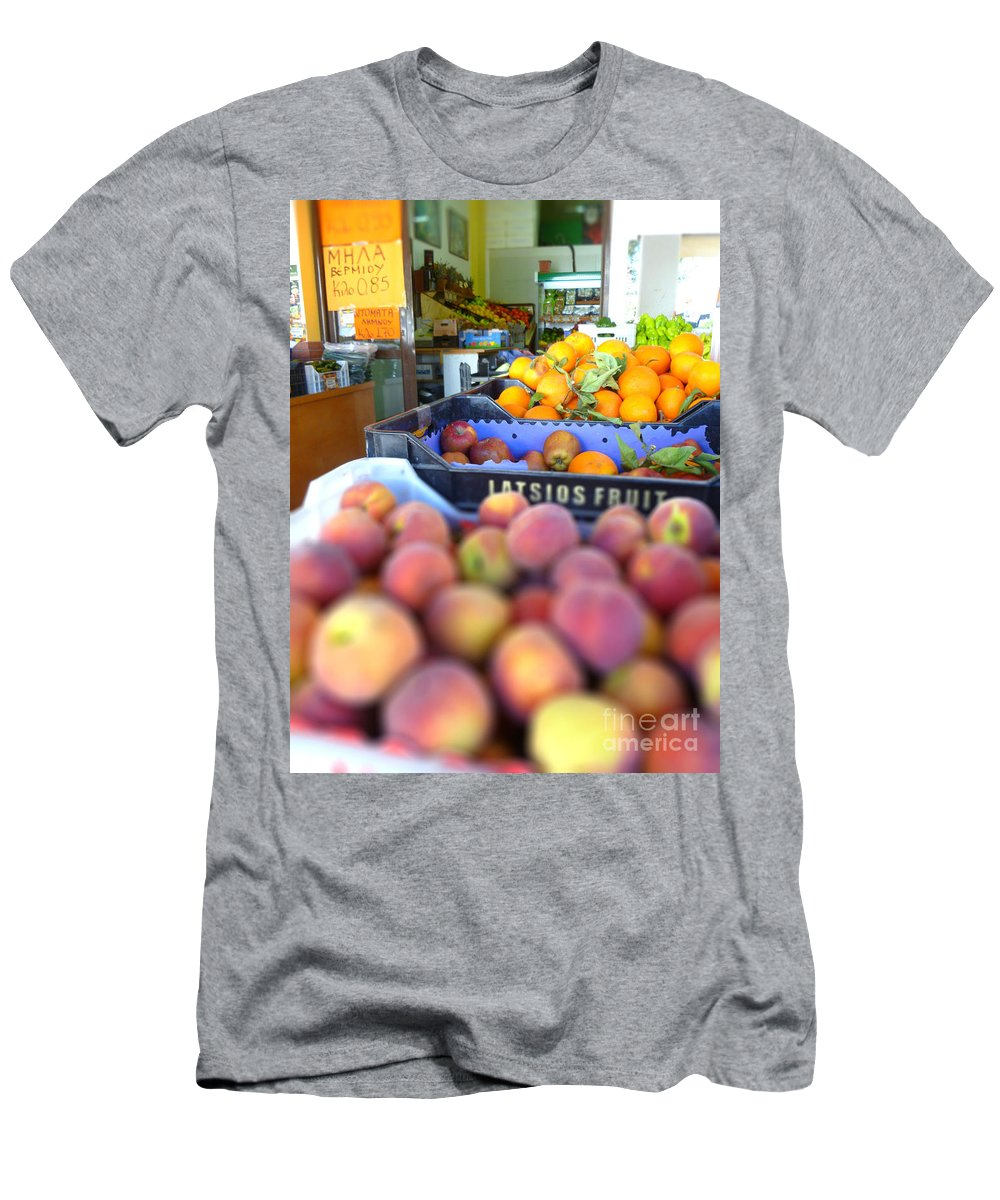 Tilt Men's T-Shirt (Athletic Fit) featuring the photograph Fresh Fruit by Vicki Spindler