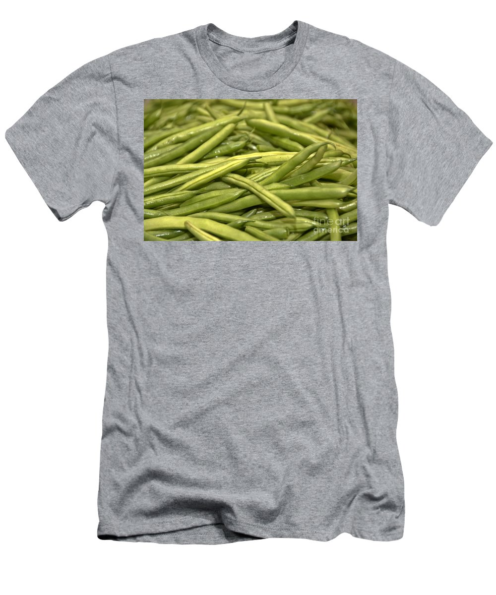 Men's T-Shirt (Athletic Fit) featuring the photograph Fresh Picked Beans by Cheryl Baxter