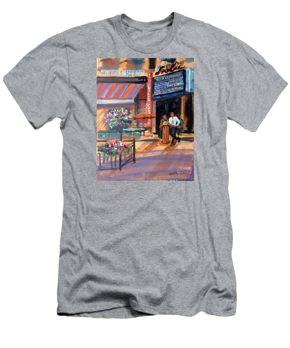 Frolic Comedy Club Men's T-Shirt (Athletic Fit) featuring the painting Frolic by Mitzi Lai