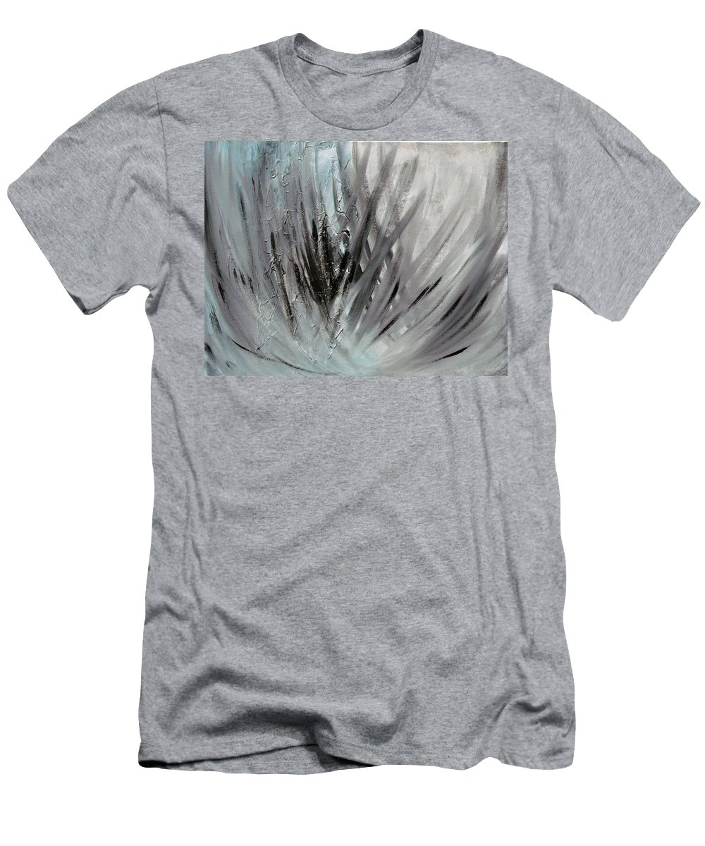 Abstract T-Shirt featuring the painting Frozen by Sergey Bezhinets