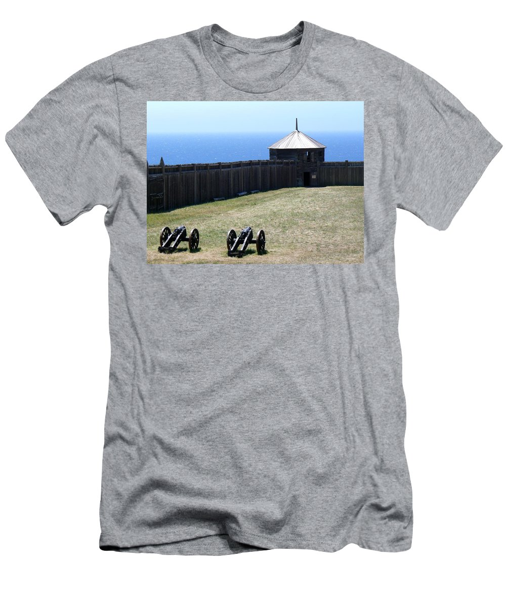 Ft. Ross Men's T-Shirt (Athletic Fit) featuring the photograph Ft. Ross State Historic Park by Laurel Powell