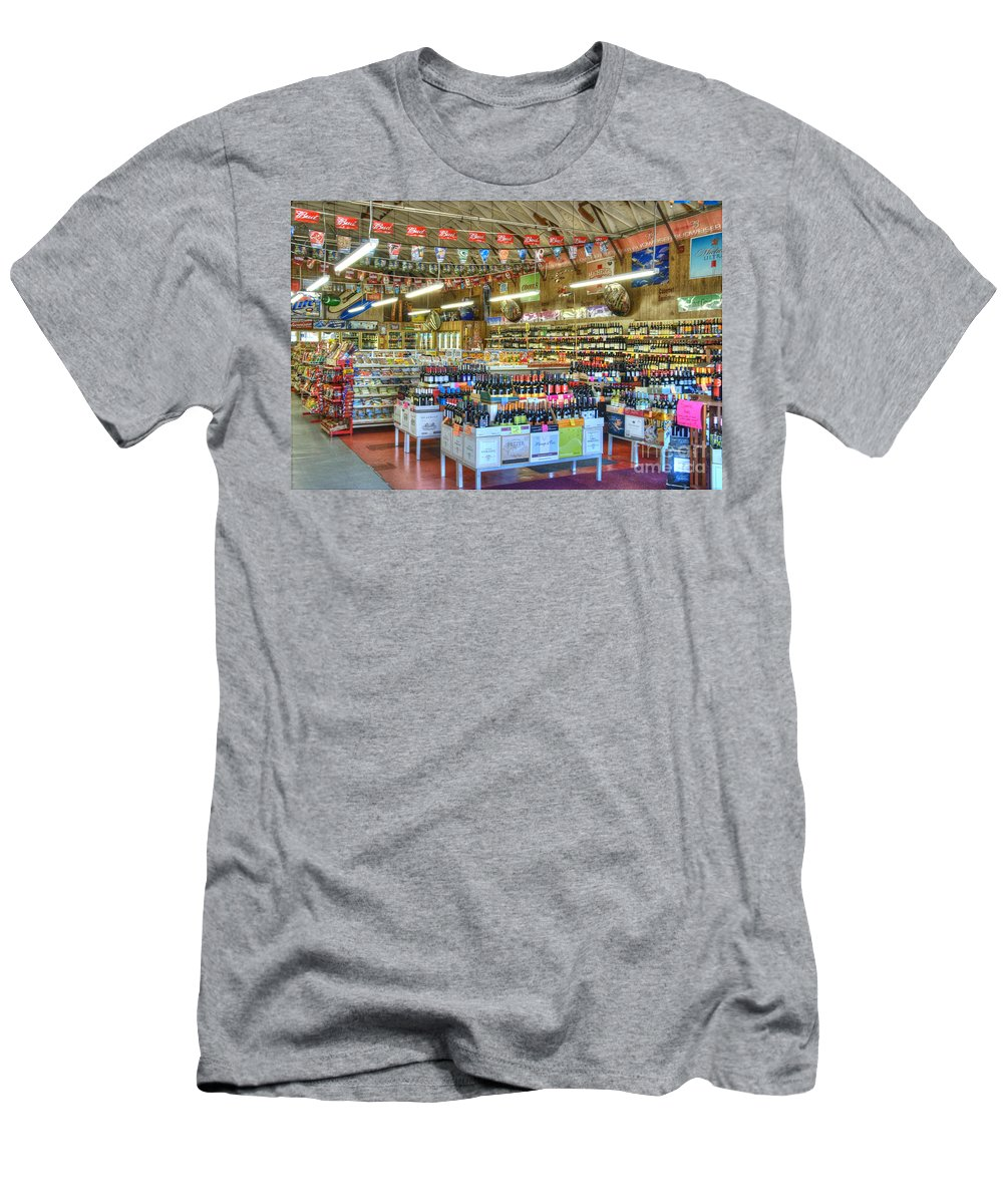 Abbot Kinney Men's T-Shirt (Athletic Fit) featuring the photograph Funky Town Market Venice California by David Zanzinger
