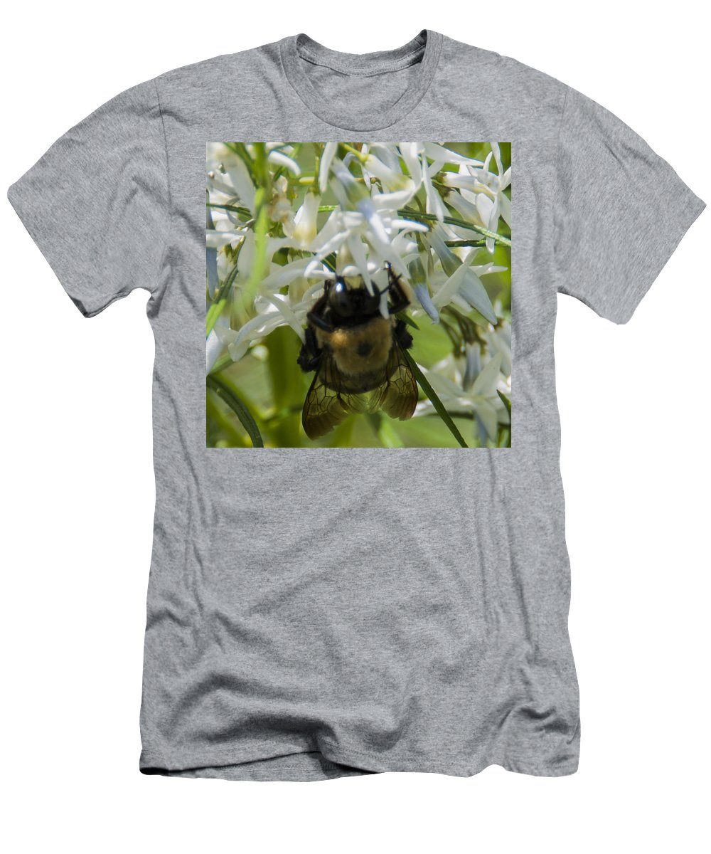 Bee Men's T-Shirt (Athletic Fit) featuring the photograph Furbee by Theodore Jones