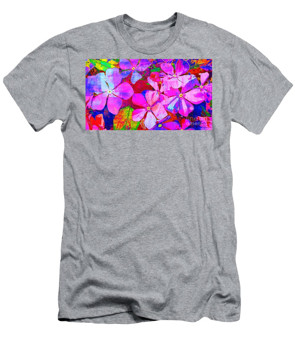 Flowers Men's T-Shirt (Athletic Fit) featuring the photograph Garden Of Hope 002 by Robert ONeil