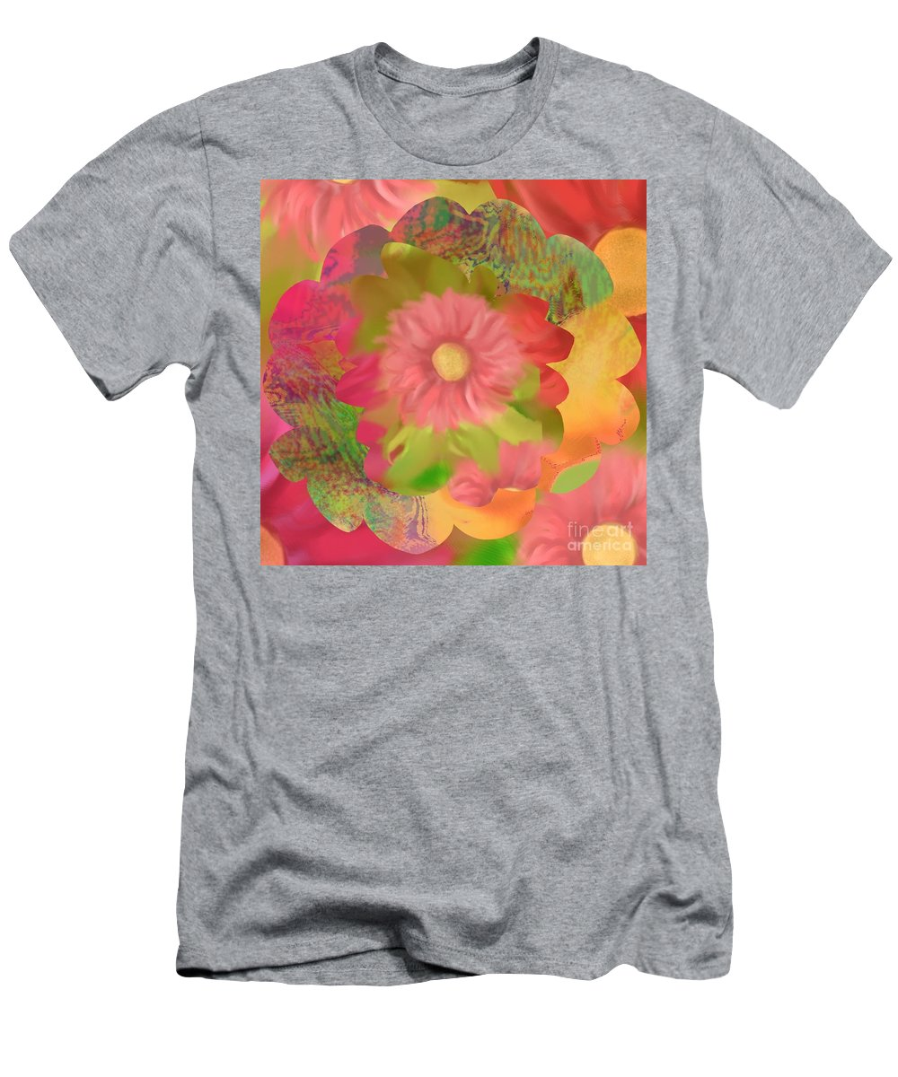 Abstract Men's T-Shirt (Athletic Fit) featuring the digital art Garden Party by Christine Fournier