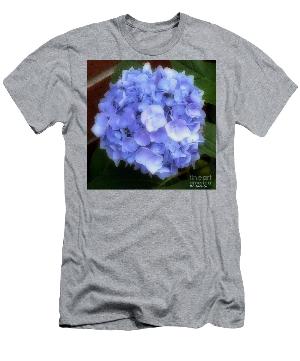 Hydrangea Men's T-Shirt (Athletic Fit) featuring the photograph Gauzy Blues by RC DeWinter
