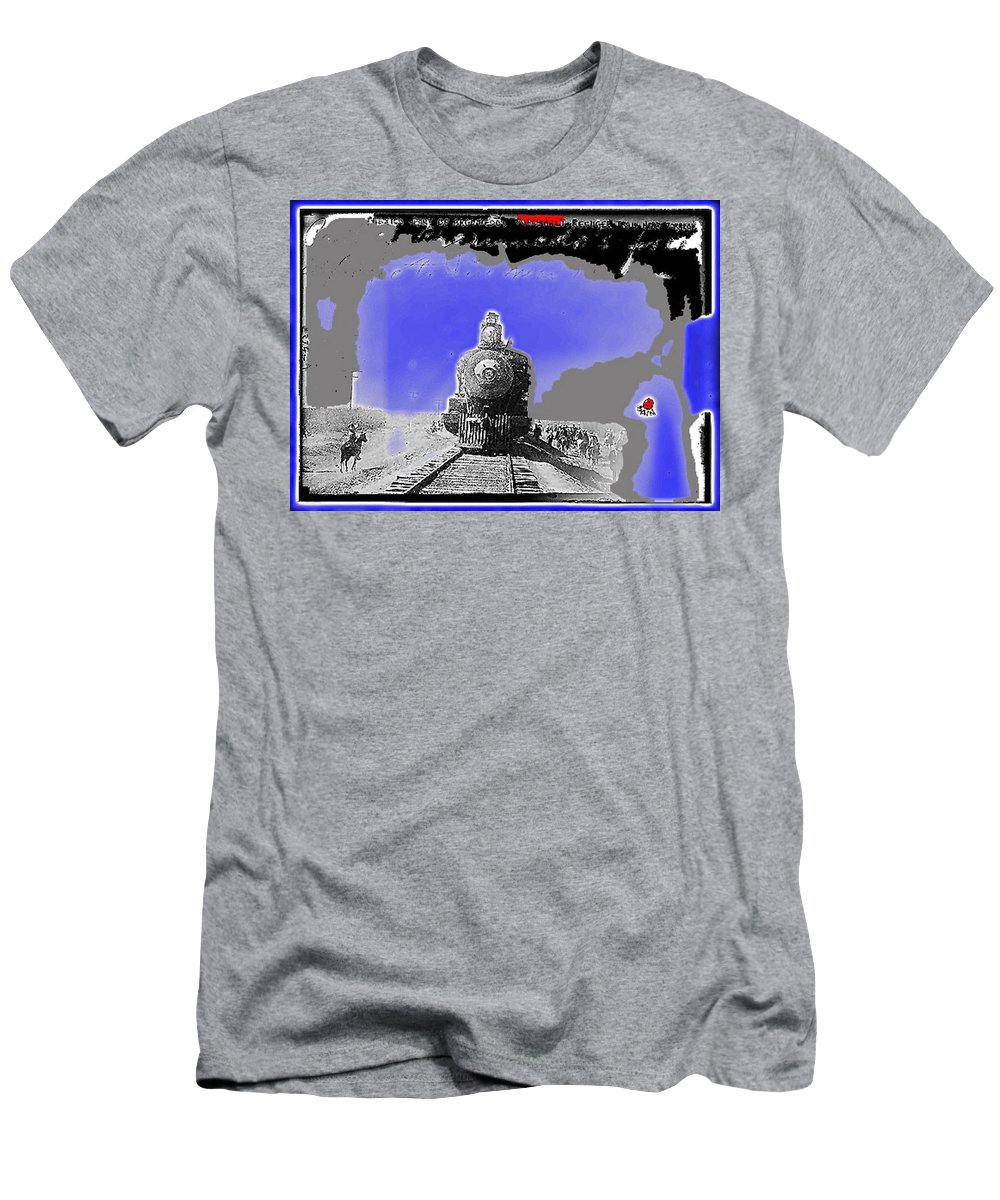 General Benjamin Argumedo's Troop Train Unknown Mexico Location Or Date-2013 Men's T-Shirt (Athletic Fit) featuring the photograph General Benjamin Argumedo's Troop Train Unknown Mexico Location Or Date-2013 by David Lee Guss