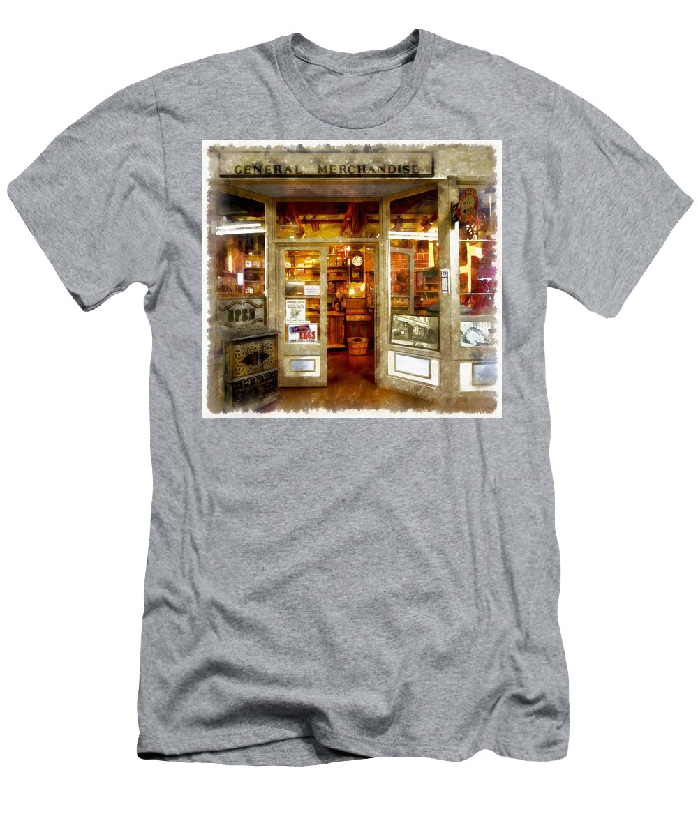 General Merchandise Men's T-Shirt (Athletic Fit) featuring the painting General Merchandise by L Wright