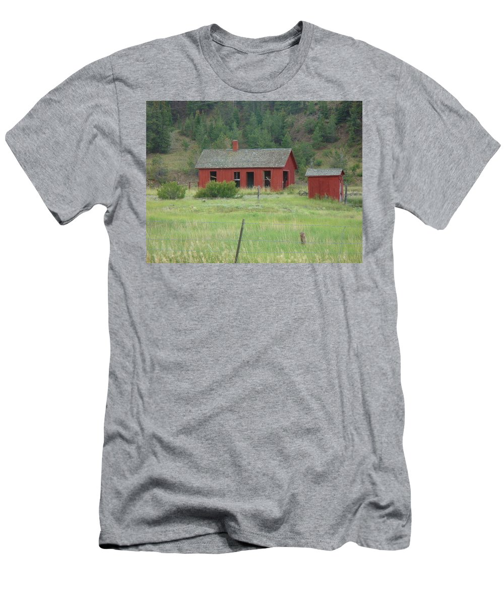 Lyle Men's T-Shirt (Athletic Fit) featuring the painting Ghost Town by Lord Frederick Lyle Morris