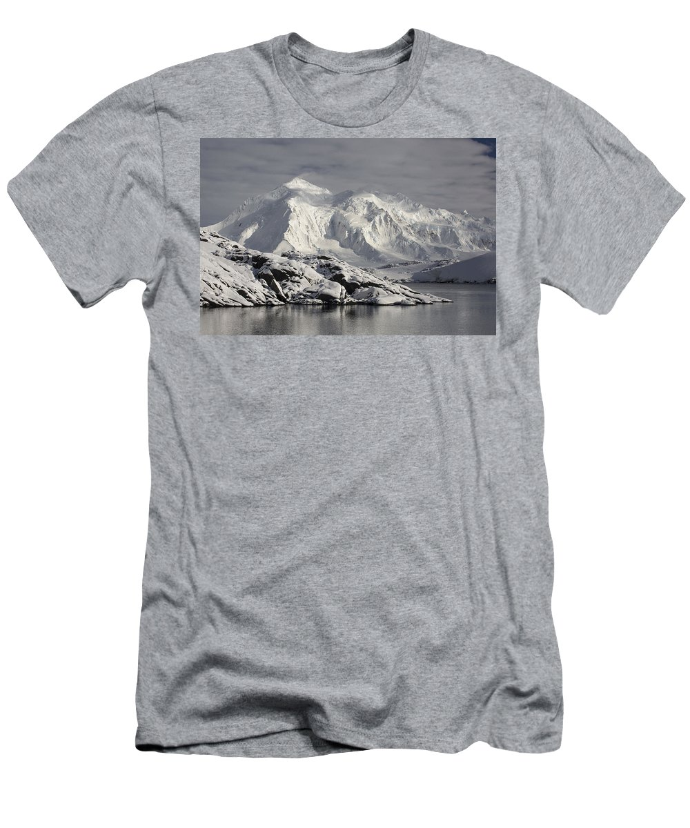 Feb0514 Men's T-Shirt (Athletic Fit) featuring the photograph Glaciated Peaks Anvers Isl Antarctica by Matthias Breiter