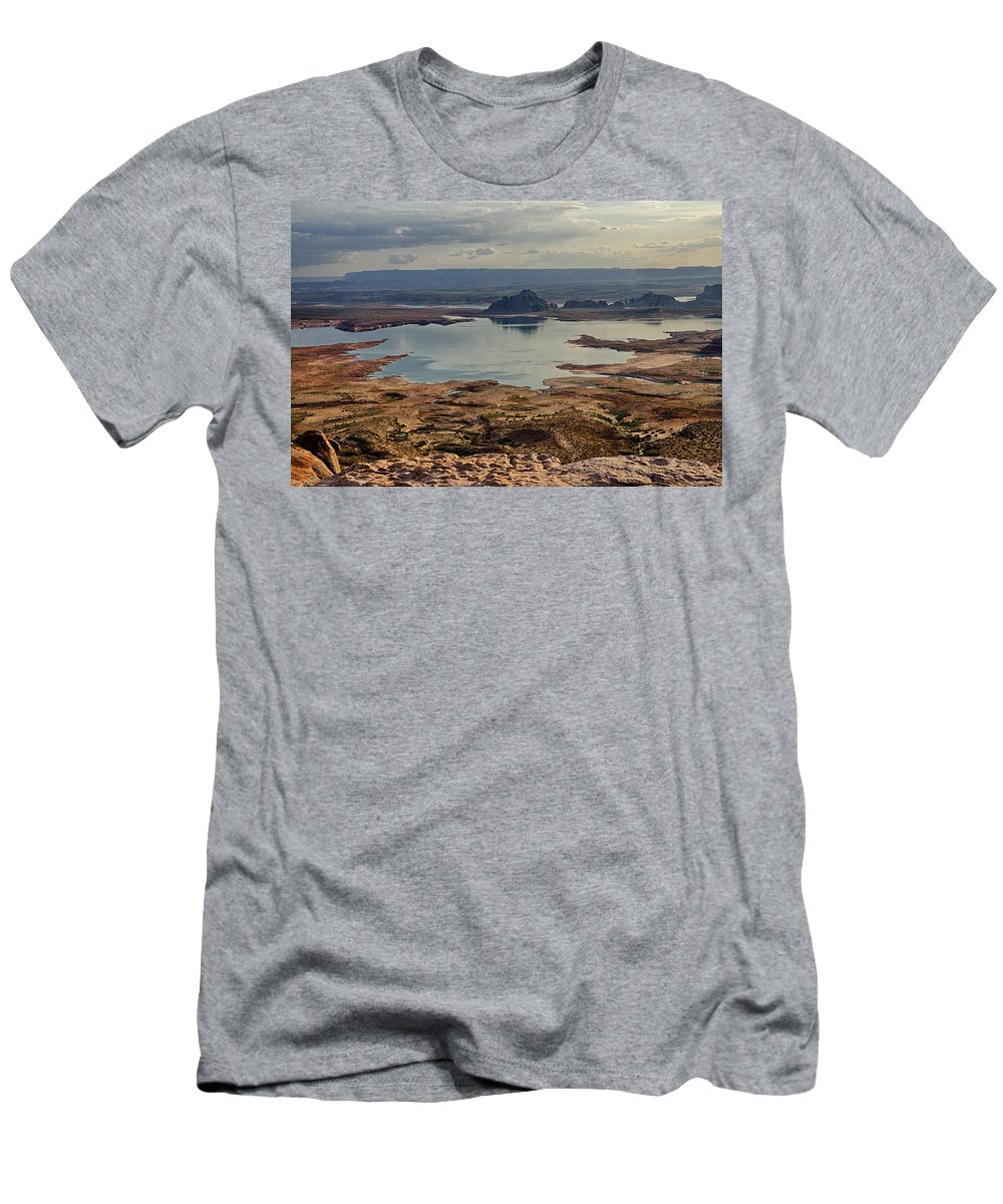 Sunrise Men's T-Shirt (Athletic Fit) featuring the photograph Glen Canyon by Saija Lehtonen
