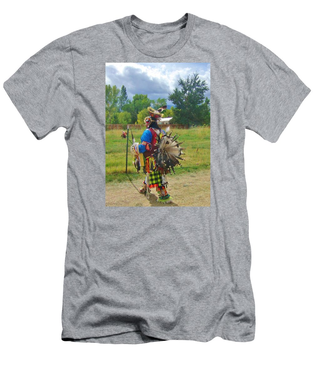 Sky Men's T-Shirt (Athletic Fit) featuring the photograph Going To The Pow Wow by Marilyn Diaz