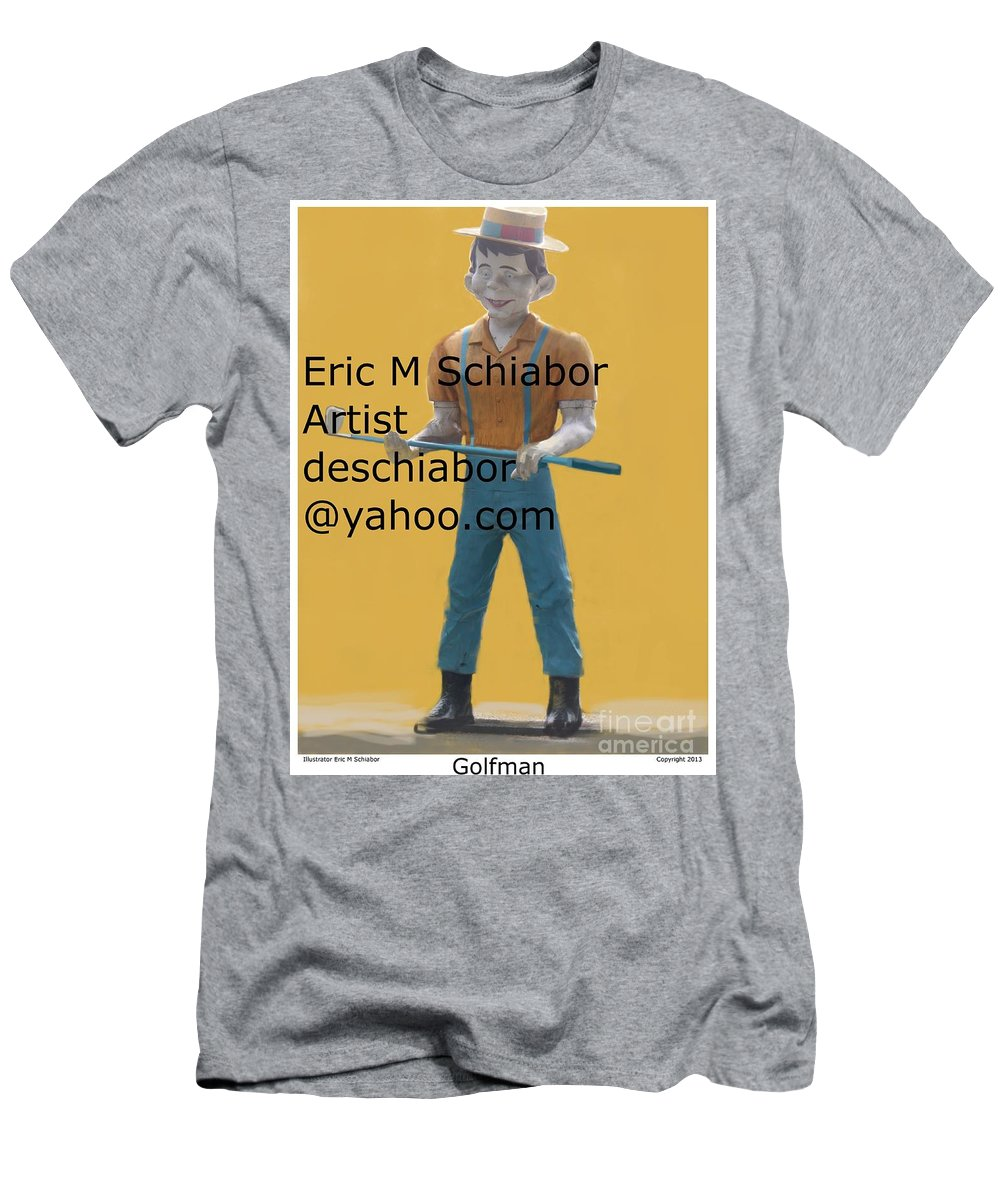 Golf Man Men's T-Shirt (Athletic Fit) featuring the photograph Golf Man Giant by Eric Schiabor