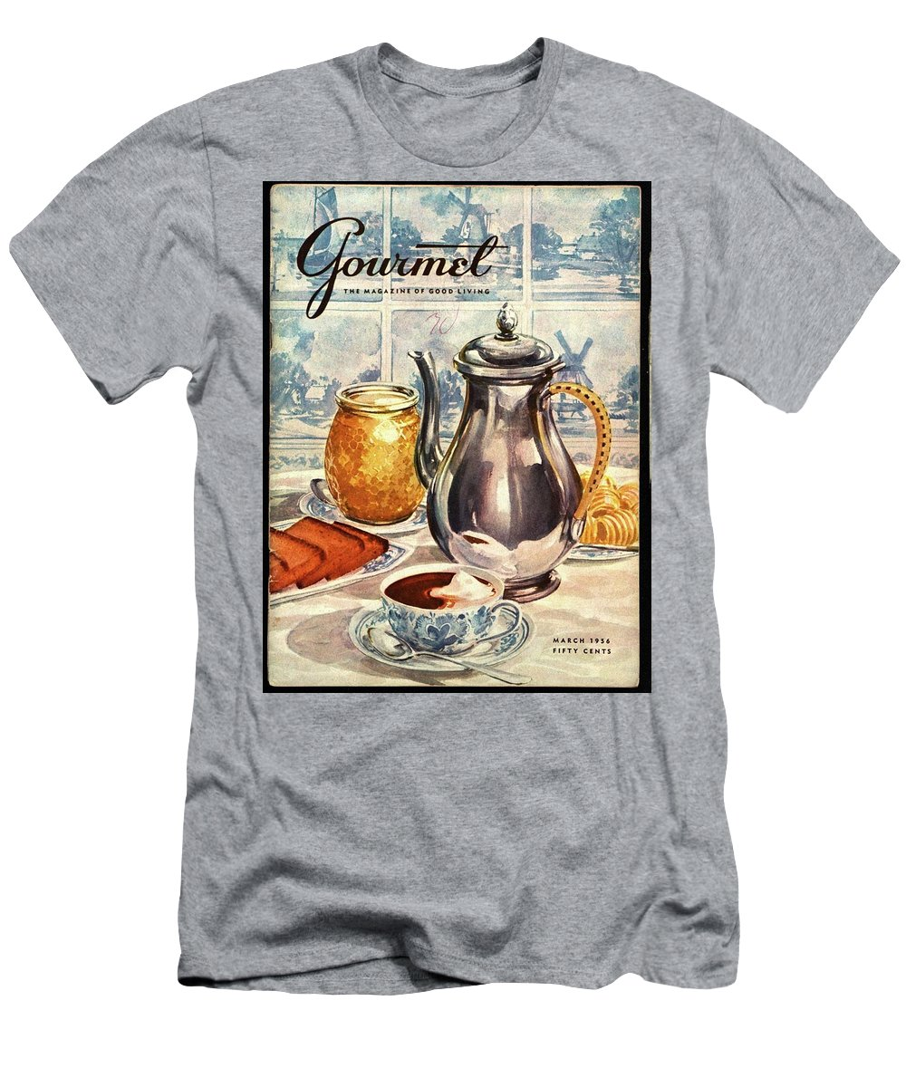Illustration Men's T-Shirt (Athletic Fit) featuring the photograph Gourmet Cover Featuring An Illustration by Hilary Knight