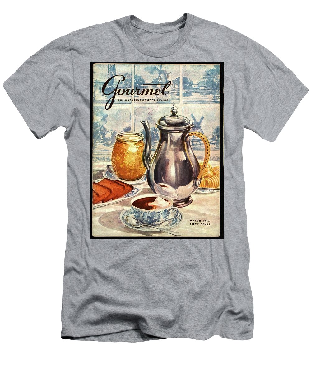 Illustration T-Shirt featuring the photograph Gourmet Cover Featuring An Illustration by Hilary Knight