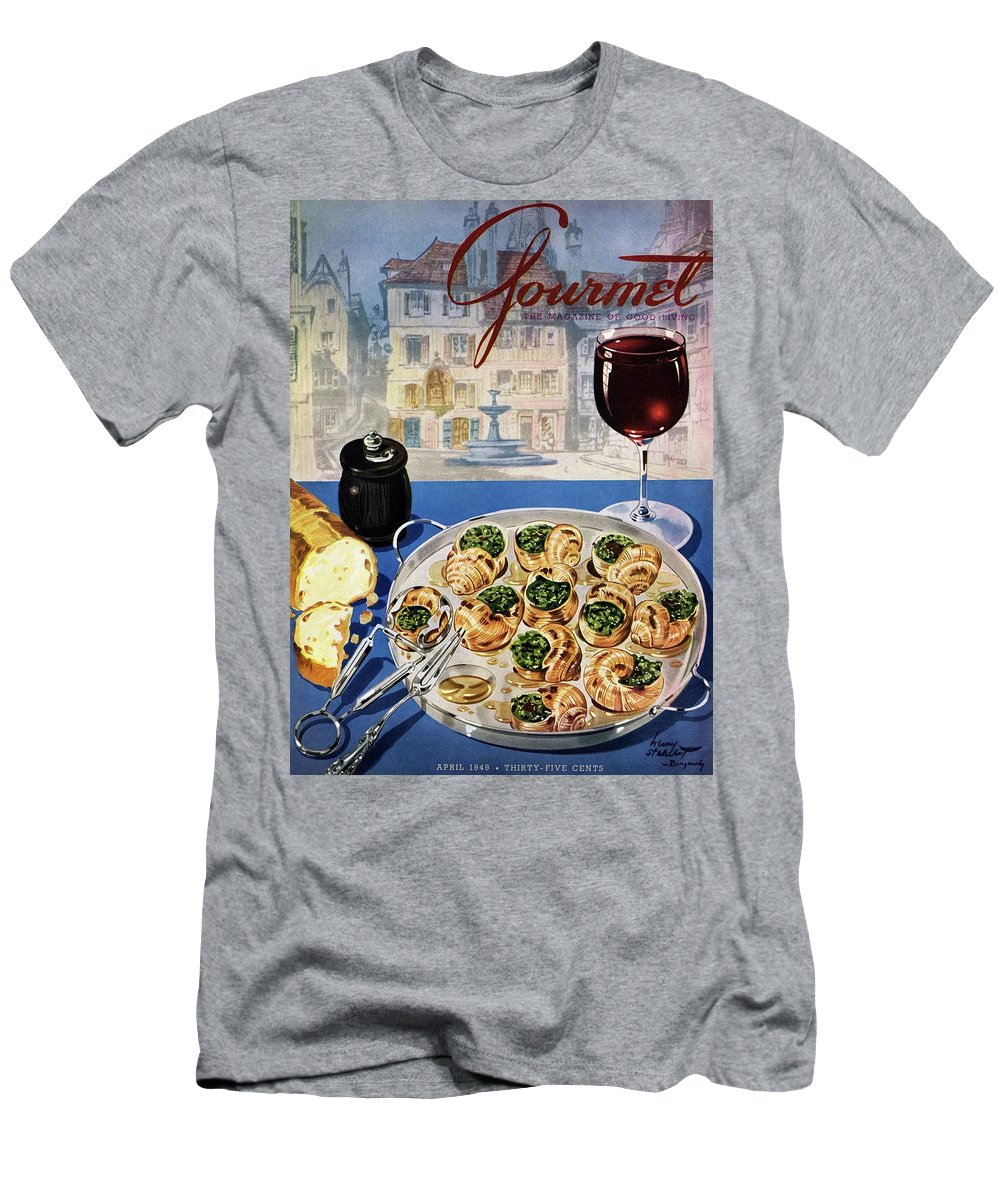 Food T-Shirt featuring the photograph Gourmet Cover Illustration Of A Platter by Henry Stahlhut