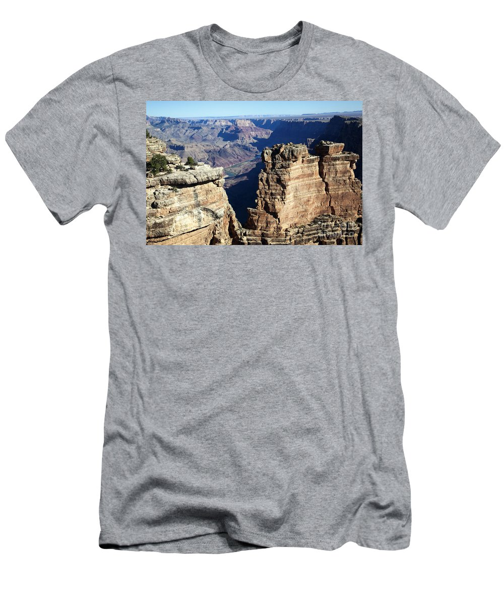 Horizontal Men's T-Shirt (Athletic Fit) featuring the photograph Grand Canyon And Colorado River Arizona by Patrick McGill