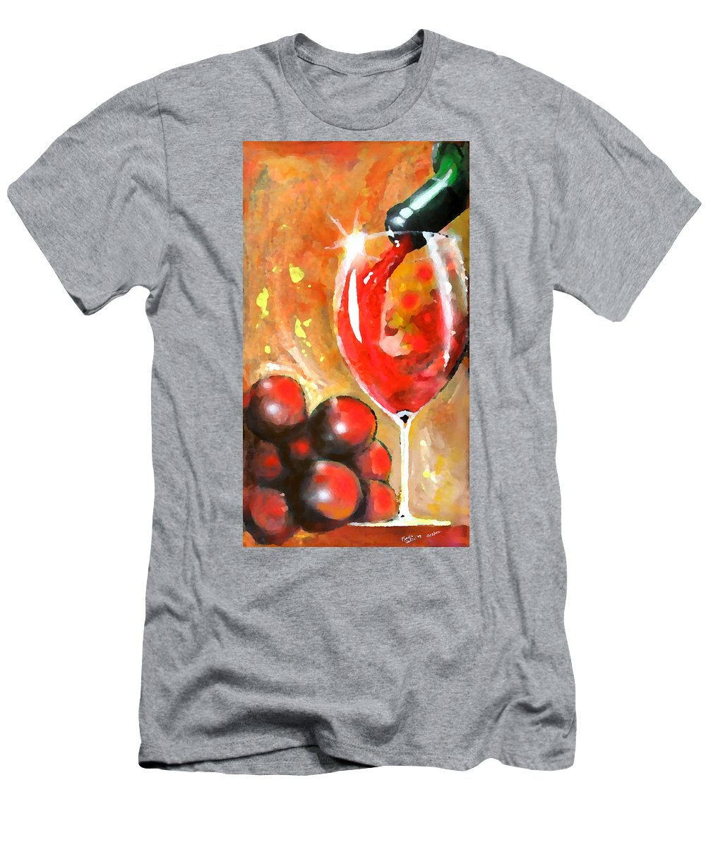 Expressionism Men's T-Shirt (Athletic Fit) featuring the painting Grapes by Marcello Cicchini