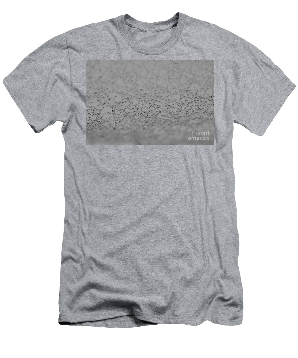 Close-up Men's T-Shirt (Athletic Fit) featuring the photograph Gray World by Brothers Beerens