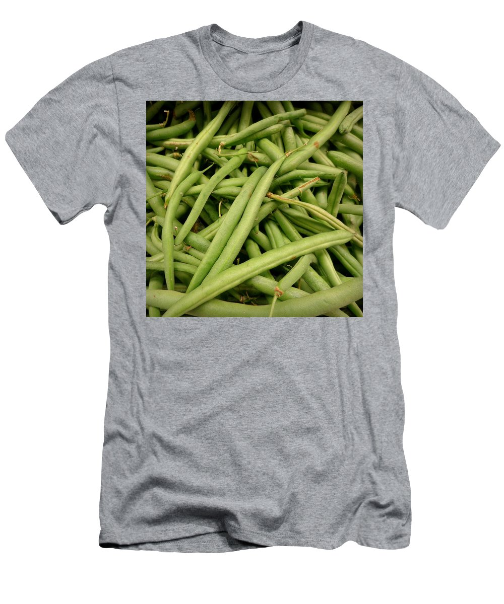 Joseph Skompski Men's T-Shirt (Athletic Fit) featuring the photograph Green Beans by Joseph Skompski
