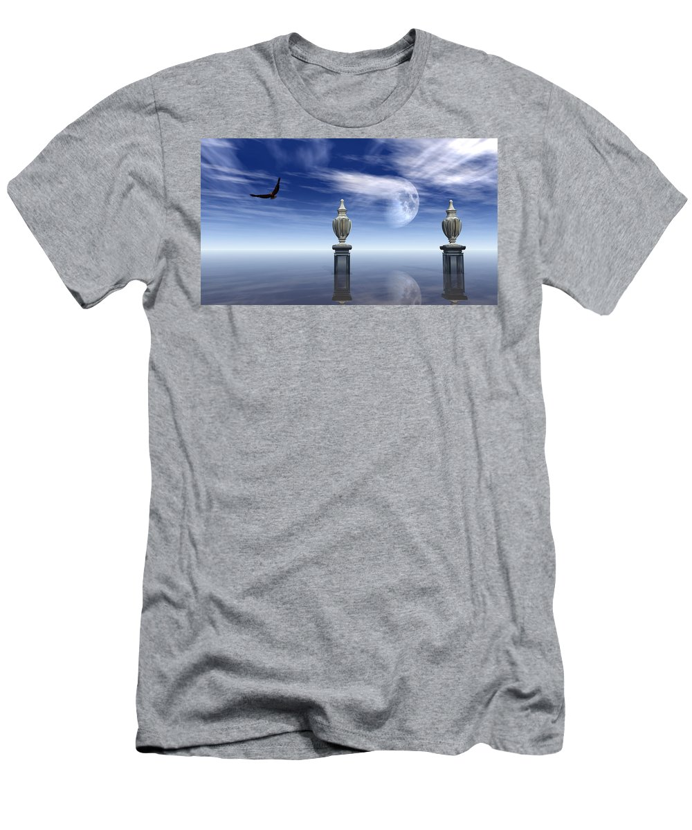 Seascape Men's T-Shirt (Athletic Fit) featuring the digital art Guardians Of The Earth by Georgiana Romanovna