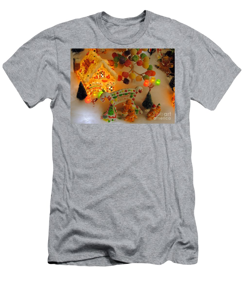 Scenic Tours Men's T-Shirt (Athletic Fit) featuring the photograph Gumdrop Village by Skip Willits