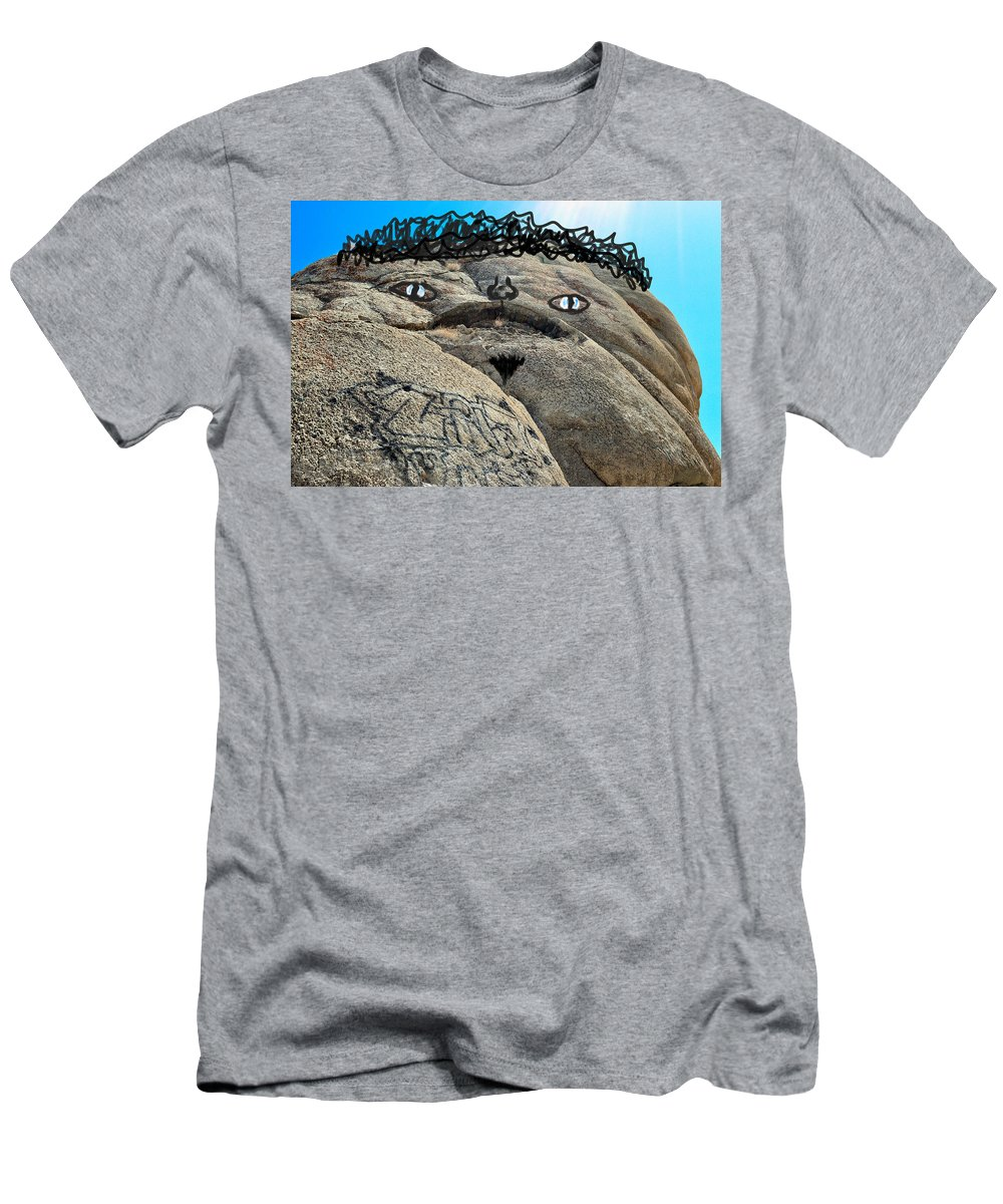 Silly Men's T-Shirt (Athletic Fit) featuring the photograph Handsome Jabba The Hut Rock by Brent Dolliver