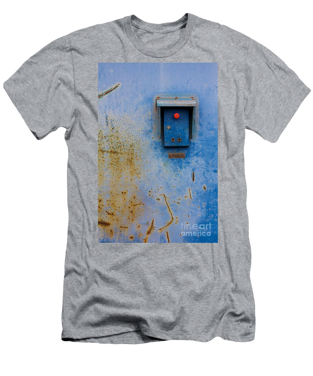 Art Men's T-Shirt (Athletic Fit) featuring the photograph Hangar Gate Controls by Jannis Werner