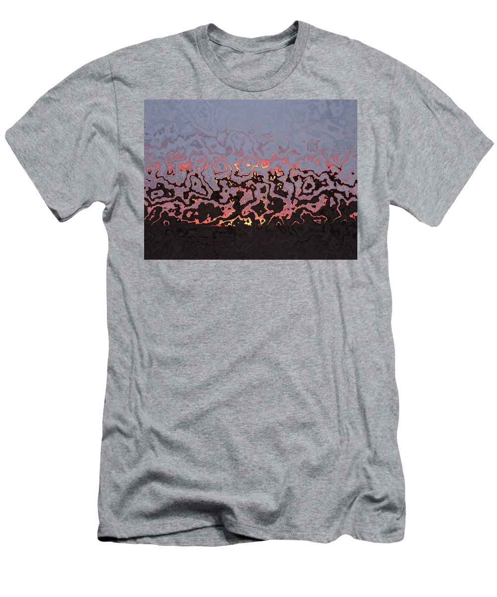 Happy Dance Men's T-Shirt (Athletic Fit) featuring the photograph Happy Dance Abstract by Enaid Silverwolf