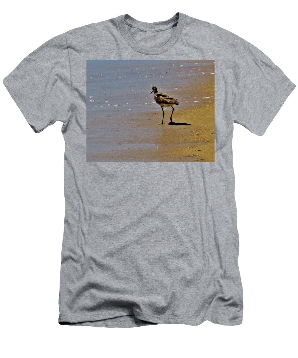 Mark Lemmon Cape Hatteras Nc The Outer Banks Photographer Subjects From Sunrise Men's T-Shirt (Athletic Fit) featuring the photograph Hatteras Island Bird 8/24 by Mark Lemmon