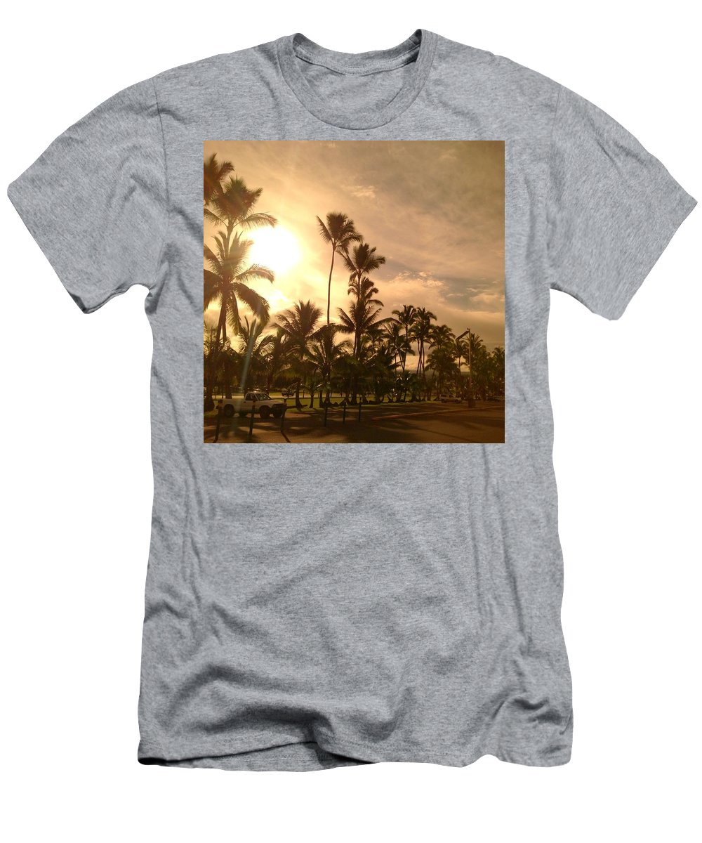 Hawaiian Landscape Men's T-Shirt (Athletic Fit) featuring the digital art Hawaiian Landscape 7 by D Preble