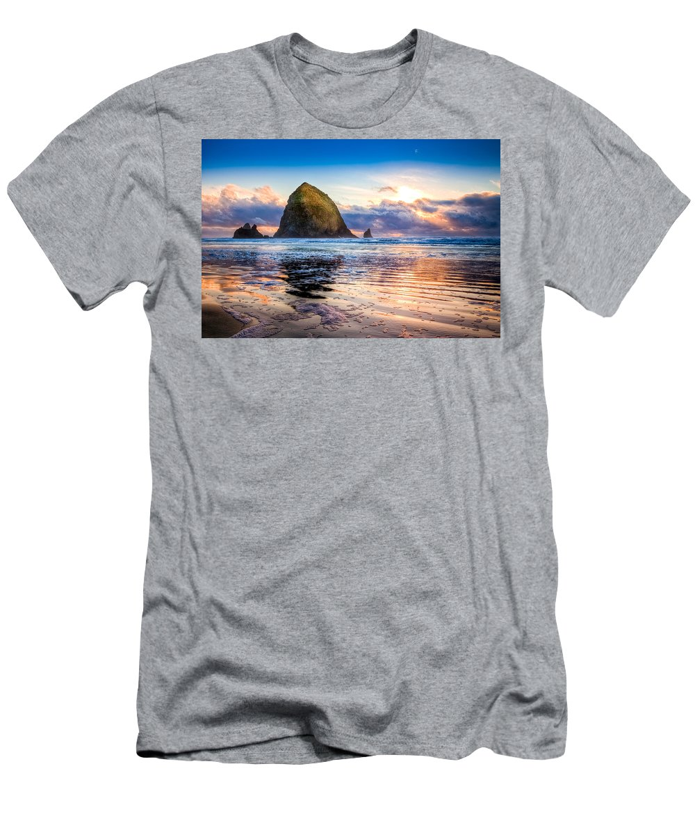 Oregon T-Shirt featuring the photograph Haystack Rock by Niels Nielsen