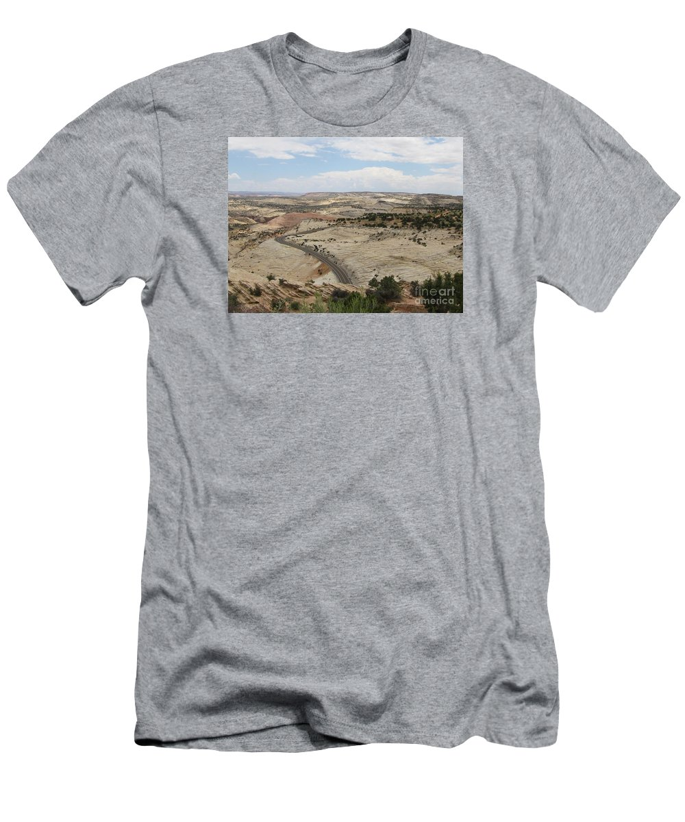 Utah Men's T-Shirt (Athletic Fit) featuring the photograph Head Of The Rocks - Scenic Byway 12 by Sheryl Young