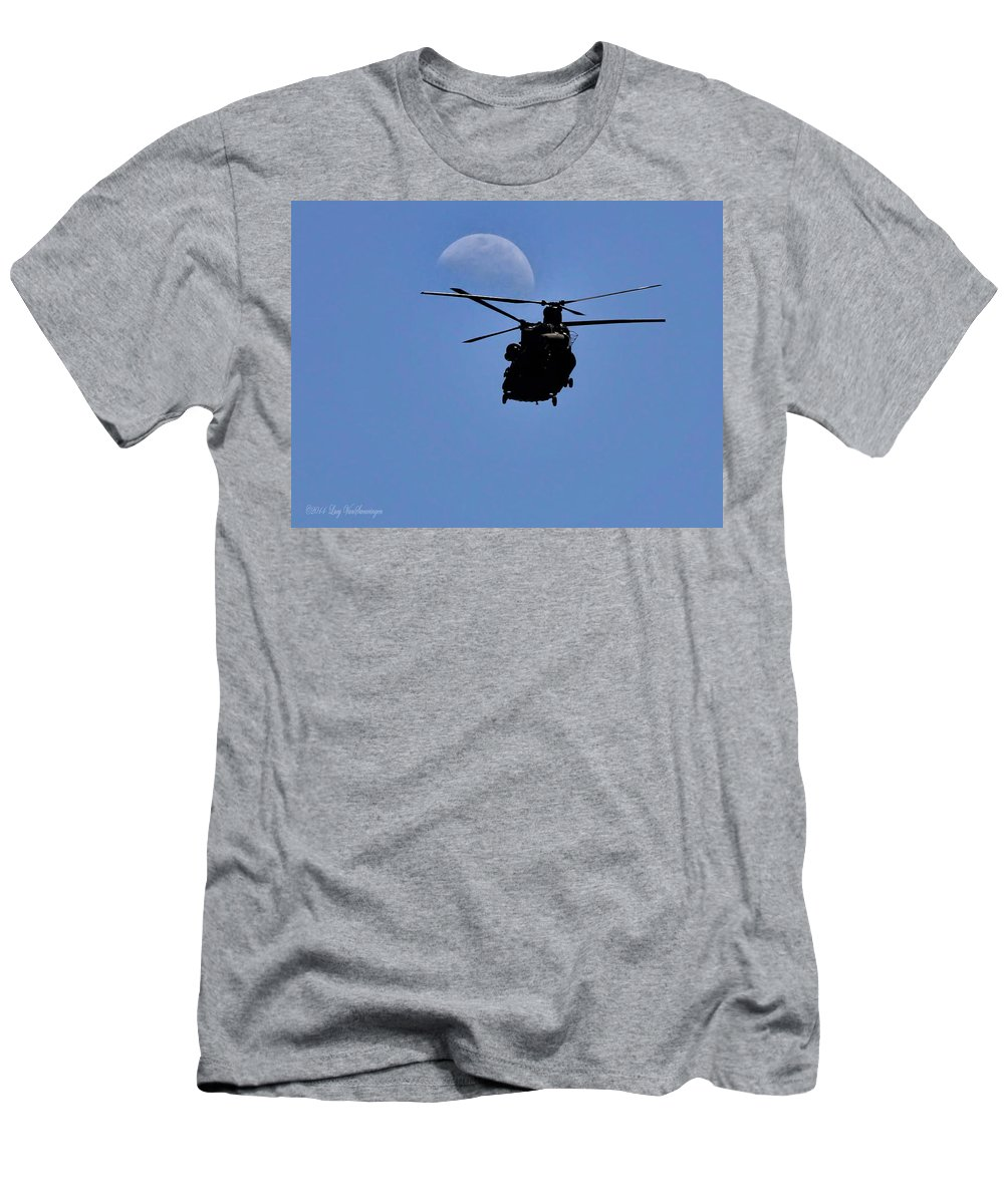 Moon T-Shirt featuring the photograph Heading Home by Lucy VanSwearingen