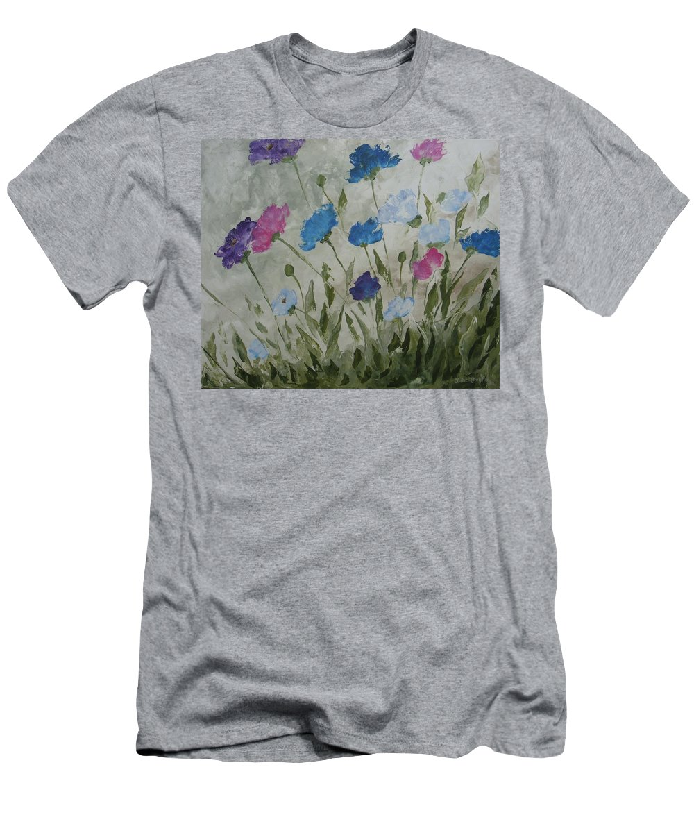 Textured In Color Men's T-Shirt (Athletic Fit) featuring the painting Heaven And Earth B by Julie Cranfill