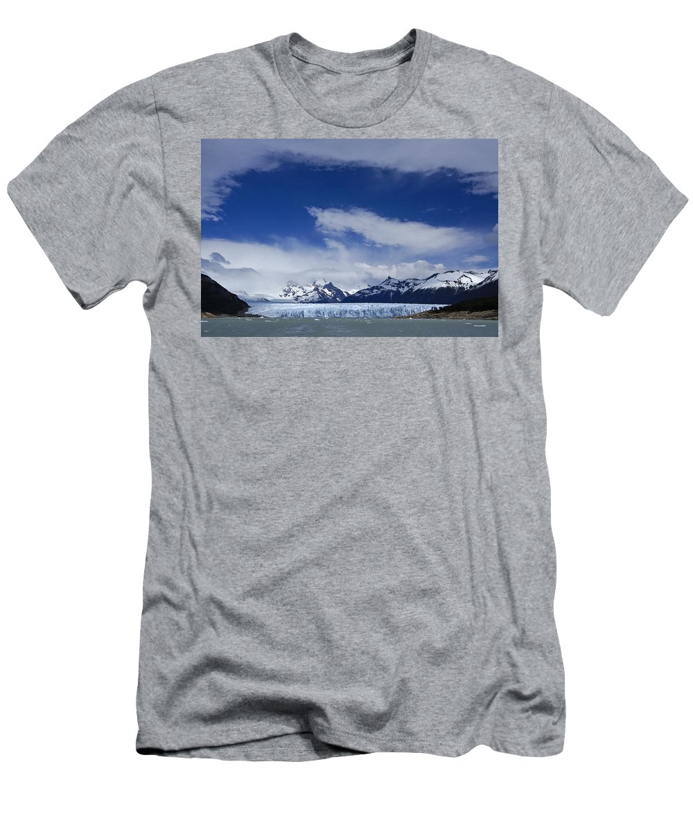 Argentina Men's T-Shirt (Athletic Fit) featuring the photograph Heavenly Perito Moreno Glacier by Michele Burgess