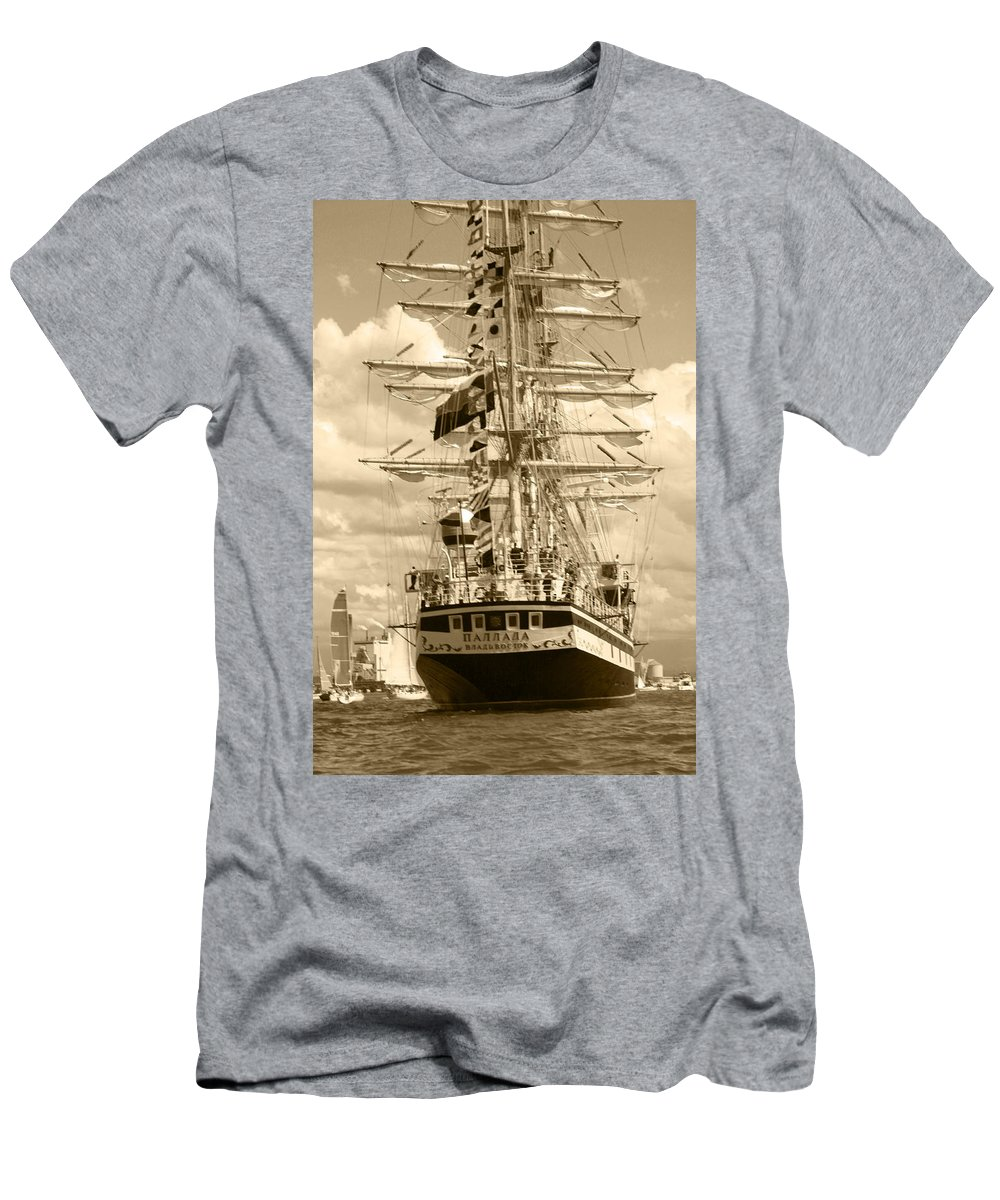 Transportation Men's T-Shirt (Athletic Fit) featuring the photograph Her Russian Backside by Kym Backland