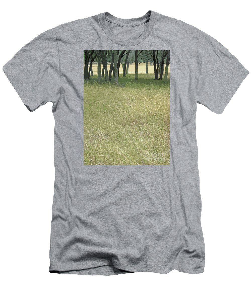 Texas Hill Country Framed Print Men's T-Shirt (Athletic Fit) featuring the photograph Hill Country Calm by Joe Jake Pratt