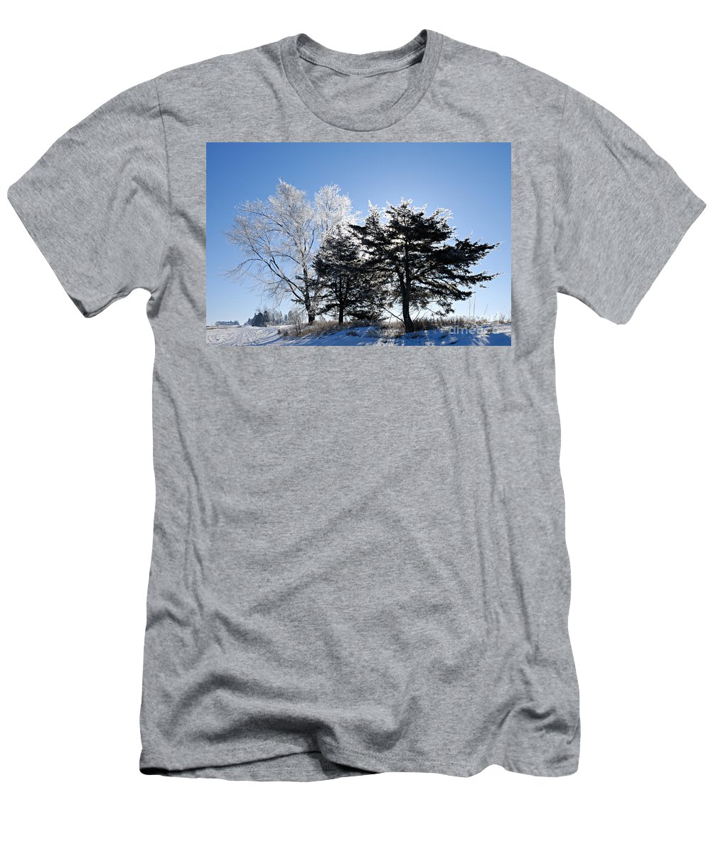 Photography Men's T-Shirt (Athletic Fit) featuring the photograph Hoar Frost by Larry Ricker