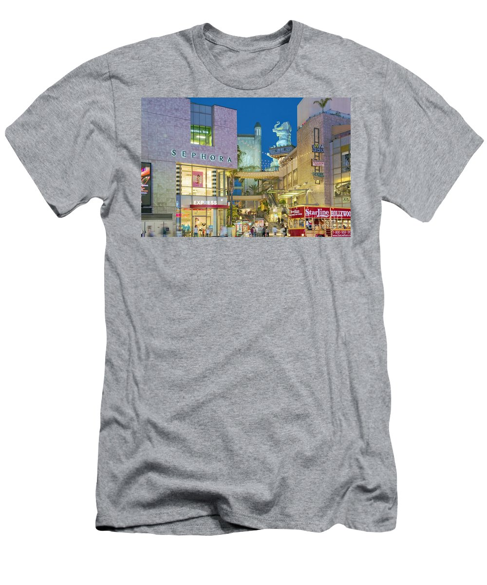 Hollywood & Highland Men's T-Shirt (Athletic Fit) featuring the photograph Hollywood And Highland Center Hoillywood Ca by David Zanzinger