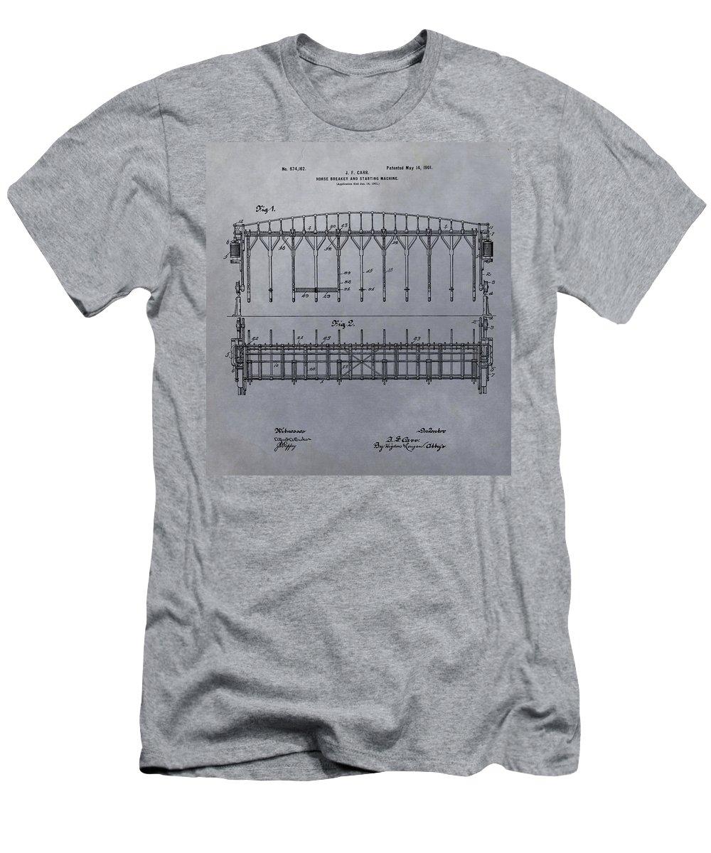 Horse Breaker Patent Men's T-Shirt (Athletic Fit) featuring the mixed media Horse Breaker Patent by Dan Sproul