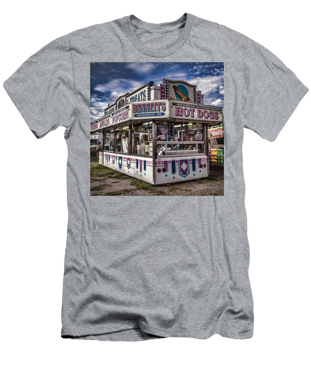 County Fair Men's T-Shirt (Athletic Fit) featuring the photograph Hot Dogs by Diana Powell