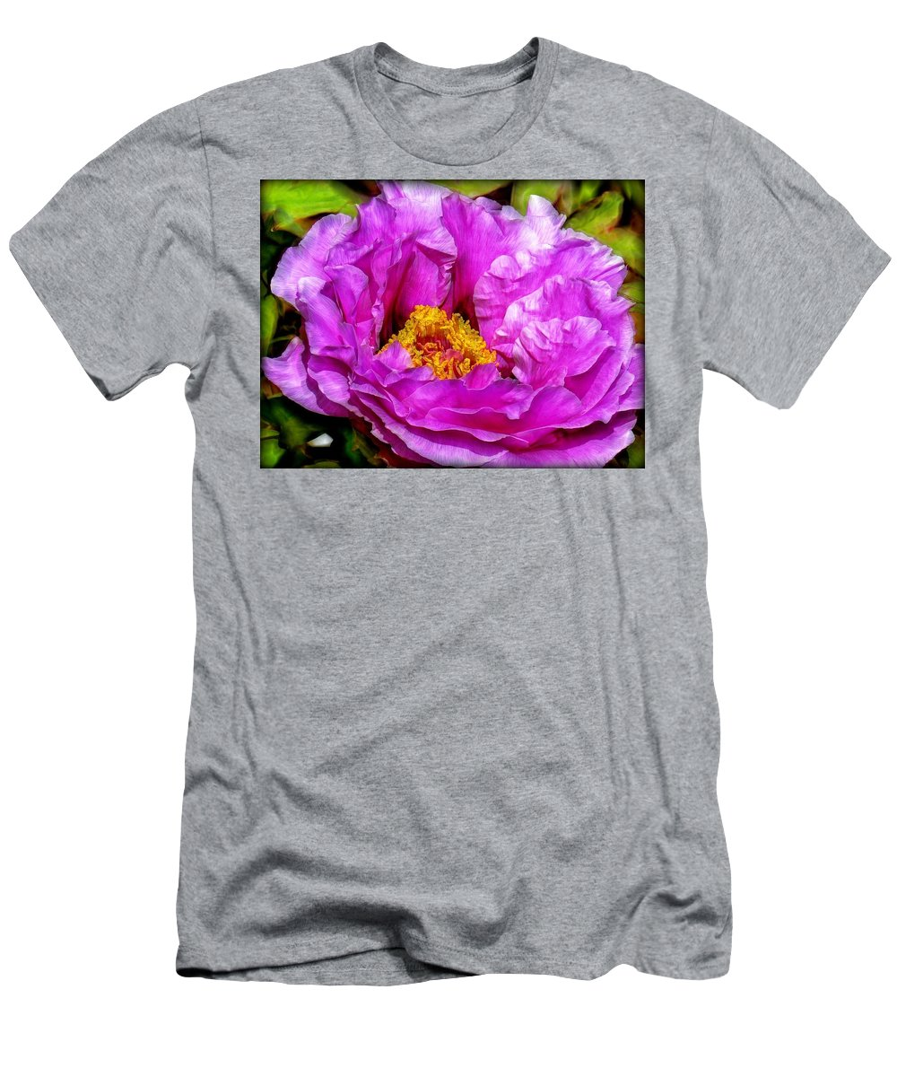 Flower Men's T-Shirt (Athletic Fit) featuring the digital art Hot-pink Flower by Lilia D